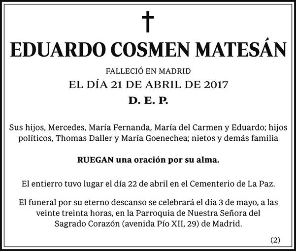 Eduardo Cosmen Matesán
